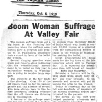 Page 020 : Boom Woman Suffrage At Valley Fair