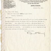 Letter from Omar Garwood to Emma Smith DeVoe, 11/11/1910, page 1