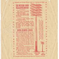 Telegram from Mrs. John Allen to Emma Smith. DeVoe, 2/9/1912, Back