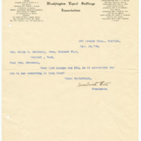 Letter from Cora Smith Eaton to Della McDowell, 3/24/1908, page 1