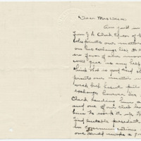 Letter from Sara Callow to Emma Smith DeVoe, 3/18/1908, page 1