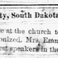 Page 33 : [news clipping: Emma Smith DeVoe will be Patronized]
