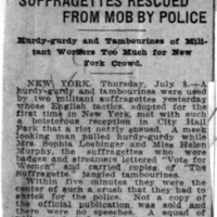 Page 097 : Suffragettes Rescued from Mob by Police