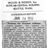 Page 125 : Reasons For Womans Suffrage