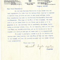 Letter from Harriet Upton to 'Dear State President', 11/20/1907, page 1