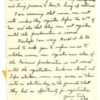 Letter from H. Painter to 'Dear madam', 11/17/1910, page 2