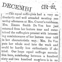 Page 064 : [news clipping: Emma Smith DeVoe revies lecture tour]