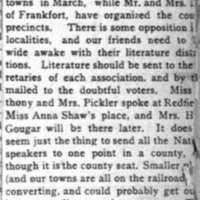 Page 42 : [fragment: Spink County suffrage organizations]