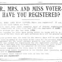 Page 081 : Mr., Mrs. And Miss Voter - Have You Registered?