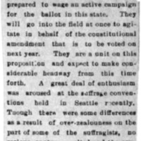 Page 107 : [news clipping: Women Go Into the Field] (2nd copy)