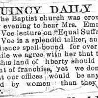 Page 052 : [news clipping: Review of Emma Smith DeVoe lecture at Quincy]