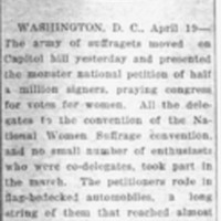 Page 090 : Suffragists Present Big Petition
