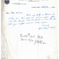 Letter from May Nash to Emma Smith DeVoe, 10/20/1910