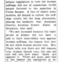 Page 176 : In the Interest of Equal Suffrage: Women Help Win Labor Victory in Australia (continued on page 177)