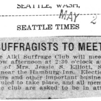 Page 116 : Suffragists to Meet