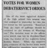 Page 092 : Votes for Women Debaters Victorious