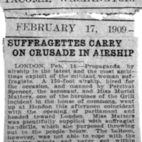 Page 101 : Suffragettes Carry On Crusade in Airship