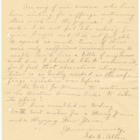 Letter from Ida A. Allen to Emma Smith DeVoe, 12/23/1910, page 3