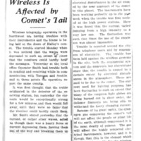 Page 100 : Wireless Is Affected by Comet's Tail