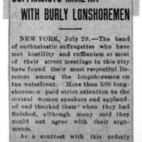 Page 126 : Suffragists Make Hit With Burly Longshoremen