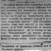 Page 066 : [news clipping: Roosevelt Not an Advocate]