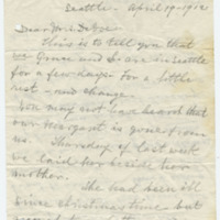 Letter from Luci Isaacs to Emma Smith DeVoe, 4/19/1910, page 1