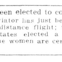 Page 126 : [Woman elected to congress]