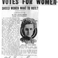 Page 121 : Votes For Women: Should Women Want to Vote? (Affirmative)