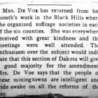 Page 42 : [news clipping: Emma Smith DeVoe returns from the Black Hills]