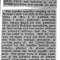 Page 136 : [news clipping: Meeting at Addison Home]