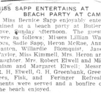 Page 095 : Miss Sapp Entertains At Beach Party At Camp