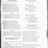 Page 63 : Songs Sung at the National-American Woman's Suffrage Convention (back of item)