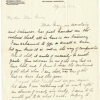 Letter from Almina George to Emma Smith DeVoe, 4/16/1910