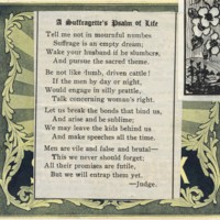 Suffragettes Psalm of Life