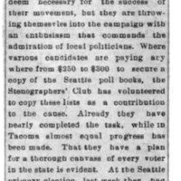 Page 168 : [Washington Suffragists' commmand admiration of local politicians]