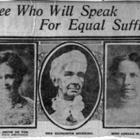 Page 033 : Three Who Will Speak for Equal Suffrage