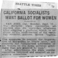 Page 139 : California Socialists Want Ballot for Women