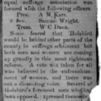 Page 05 : [news clipping: Review of Emma Smith DeVoe lecture at Holabird, South Dakota]