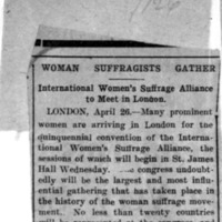 Page 161 : Woman Suffragists Gather