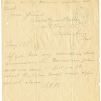 Letter from Ida Agnes Baker to Emma Smith DeVoe, 5/18/1909, page 2