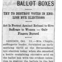 Page 033 : Suffragists Throw Acid on Ballot Boxes