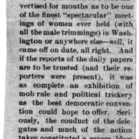 "Page 100 : [news clipping: ""Ladies are Supposed to be Ladies""]"