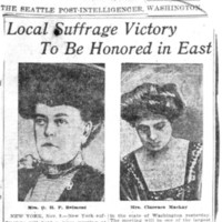 Page 085 : Local Suffrage Victory To Be Honored In East
