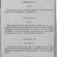 Page 04 : Constitution and By-Laws of the South Dakota Equal Suffrage Association (Page 2)