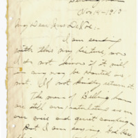 Letter from Linda Jennings to Emma Smith DeVoe, 11/14/1910, page 1