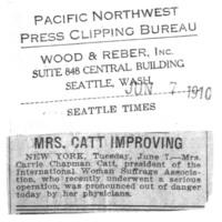 Page 166 : Mrs. Catt Improving
