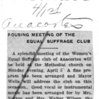 Page 134 : Rousing Meeting of the Equal Suffrage Club