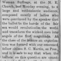 Page 25 : [news clipping: Emma Smith DeVoe lectures at M.E. Church]