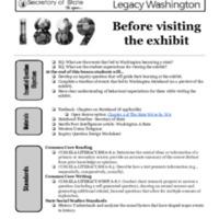 Washington 1889: Before visiting the exhibit