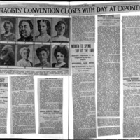 Page 093 : Suffragists'Convention Closes with Day at Exposition (continued on page 94)